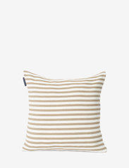 Lexington Home - Block Striped Recycled Cotton Pillow Cover - housses de coussins - beige - 0