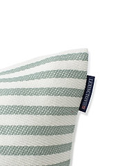 Lexington Home - Block Striped Recycled Cotton Pillow Cover - housses de coussins - green - 2