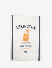 Lexington Home - Printed Cotton Twill Kitchen Towel - keittiöpyyhkeet - off white/blue/orange - 0