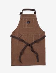 Lexington Home - Brown Cotton Canvas Apron - esiliinat - brown - 0