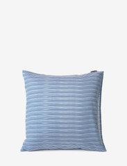 Lexington Home - Blue Striped Organic Cotton Sateen Pillowcase - taies d'oreiller - blue/white - 2