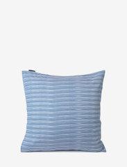 Lexington Home - Blue Striped Organic Cotton Sateen Pillowcase - taies d'oreiller - blue/white - 3