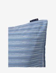 Lexington Home - Blue Striped Organic Cotton Sateen Pillowcase - taies d'oreiller - blue/white - 5