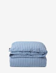 Lexington Home - Blue Striped Organic Cotton Sateen Bed Set - parures de lit - blue/white - 1