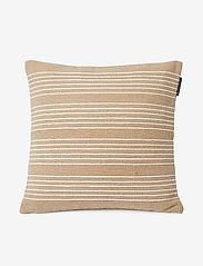 Lexington Home - Structure Stripes Recycl Cott Canvas Pillow Cover - coussins - beige/white - 0
