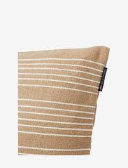 Lexington Home - Structure Stripes Recycl Cott Canvas Pillow Cover - coussins - beige/white - 2