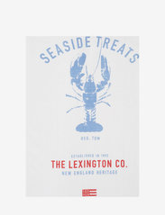 Lexington Home - Lobster Cotton Twill Kitchen Towel - torchons - white/red/blue - 2