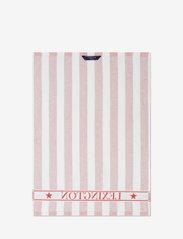 Lexington Home - Striped Logo Organic Cotton Terry Kitchen Towel - torchons - red/white - 1