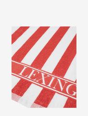 Lexington Home - Striped Logo Organic Cotton Terry Kitchen Towel - torchons - red/white - 2
