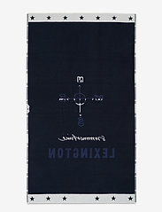 Lexington Home - Graphic Cotton Velour Beach Towel - beach towels - blue/white - 0