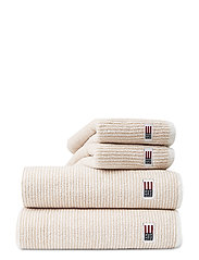 Original Towel White/Tan Striped - WHITE/TAN