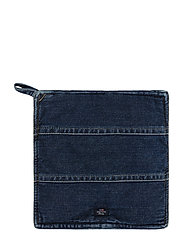 Icons Cotton Twill Denim Potholder - DENIM BLUE