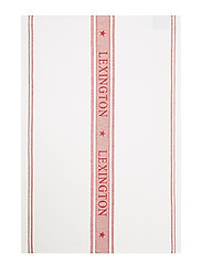 Icons Cotton Jacquard Star Kitchen Towel - WHITE/RED