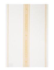 Icons Cotton Jacquard Star Kitchen Towel - WHITE/YELLOW