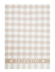 Icons Checked Cotton Terry Kitchen Towel - BEIGE/WHITE