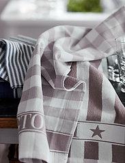 Lexington Home - Icons Checked Cotton Terry Kitchen Towel - keittiöpyyhkeet - beige/white - 3