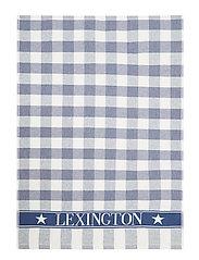 Icons Checked Cotton Terry Kitchen Towel - BLUE/WHITE