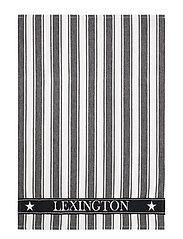 Icons Cotton Twill Waffle Striped Kitchen Towel - BLACK/WHITE