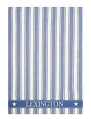 Icons Cotton Twill Waffle Striped Kitchen Towel - BLUE/WHITE