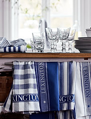 Lexington Home - Icons Cotton Twill Waffle Striped Kitchen Towel - torchons - blue/white - 2