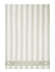 Icons Cotton Twill Waffle Striped Kitchen Towel - SAGE GREEN/WHITE