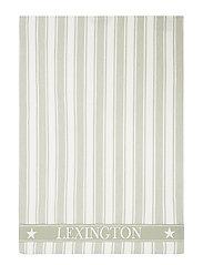 Icons Cotton Twill Waffle Striped Kitchen Towel - SAGE GREEN/WHITE