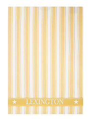 Icons Cotton Twill Waffle Striped Kitchen Towel - YELLOW/WHITE
