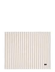 Icons Cotton Herringbone Striped Placemat - BEIGE/WHITE