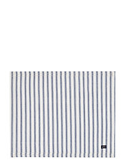 Icons Cotton Herringbone Striped Placemat - BLUE/WHITE