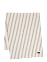 Icons Cotton Herringbone Striped Runner - BEIGE/WHITE