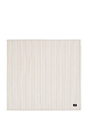 Icons Cotton Herringbone Striped Napkin - BEIGE/WHITE