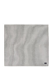 Icons Cotton Herringbone Striped Napkin - BLACK/WHITE