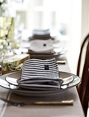 Lexington Home - Icons Cotton Herringbone Striped Napkin - pöytätabletit - black/white - 3