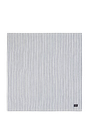 Icons Cotton Herringbone Striped Napkin - BLUE/WHITE