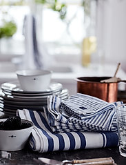 Lexington Home - Icons Cotton Herringbone Striped Napkin - pöytätabletit - blue/white - 3