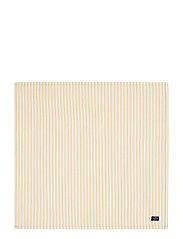 Icons Cotton Herringbone Striped Napkin - YELLOW/WHITE