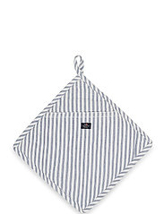 Icons Cotton Herringbone Striped Potholder - BLUE/WHITE