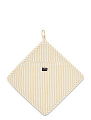 Icons Cotton Herringbone Striped Potholder - YELLOW/WHITE