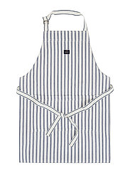 Icons Cotton Herringbone Striped Apron - BLUE/WHITE