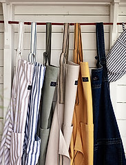 Lexington Home - Icons Cotton Herringbone Striped Apron - esiliinat - blue/white - 2