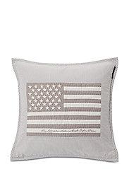 Flag Arts & Crafts Sham - GRAY/WHITE