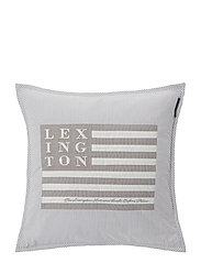 Logo Art & Crafts Sham - GRAY/WHITE
