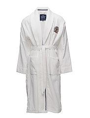 Lexington Velour Robe - WHITE