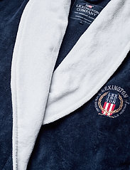 Lexington Home - Lexington Cotton Velour Contrast Robe - kylpytakit - dress blue/white - 2