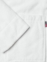 Lexington Home - Lexington Cotton Velour Contrast Robe - pegnoirs - white/lt beige - 3
