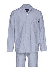 Pajama Set organic - LT BLUE/WHITE