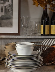 Lexington Home - Stoneware Dinner Plate - ruokalautaset - white/dk blue - 1