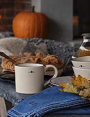 Lexington Home - Stoneware Mug - kahvikupit - beige/dk blue - 1