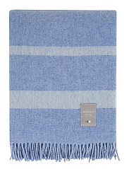 Hotel Wool Throw - BLUE/WHITE