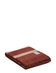 Hotel Wool Throw - CHESTNUT/WHITE